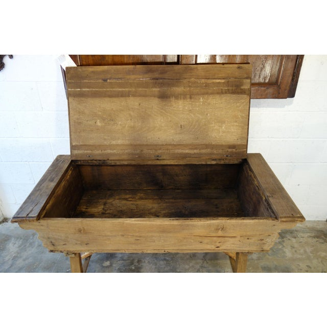 Gold 19th Century Italian Rustic Tuscan Farmhouse Console Table For Sale - Image 8 of 13