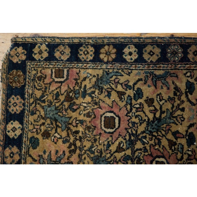 "Old New House Vintage Farahan Sarouk Square Rug Mat - 2' X 2'6"" For Sale - Image 4 of 10"