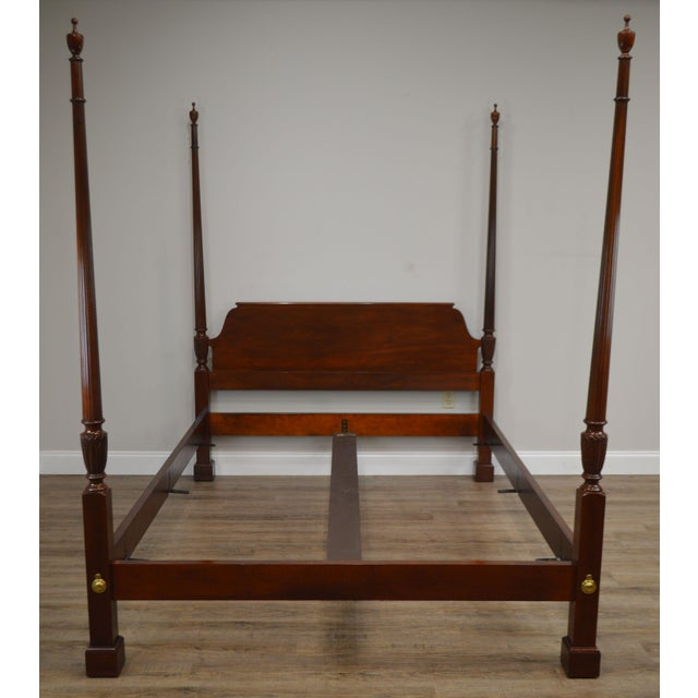 High Quality American Made Mahogany Poster Bed That Fits Standard Queen Size Mattress by Baker