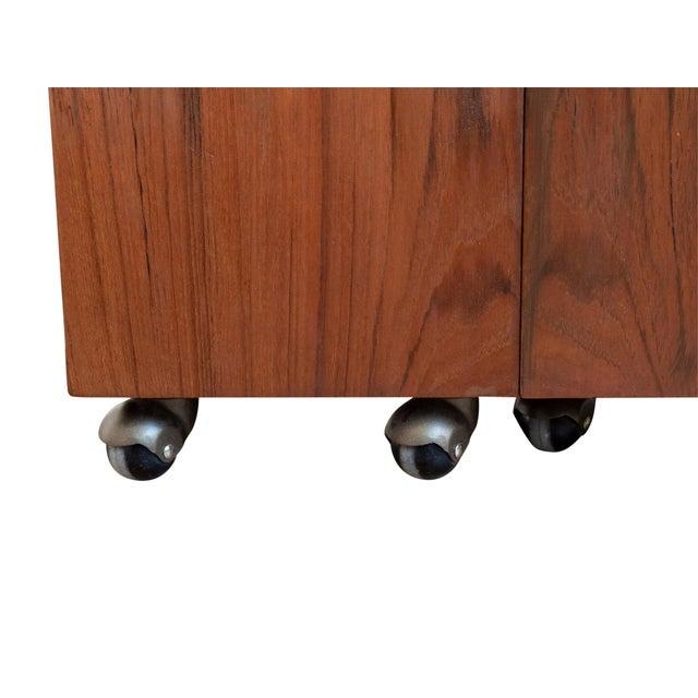 Brass Teak Dry Bar by Erik Buch for Dyrlund For Sale - Image 7 of 9