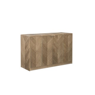 "Caracole Modern ""Thanks a Bunch"" Herringbone Sycamore Chest For Sale"