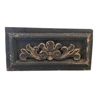 Late 19th Century Carved Wood Architectural Salvage Panel For Sale