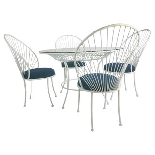 Clamshell Patio Set in Style of Salterini For Sale
