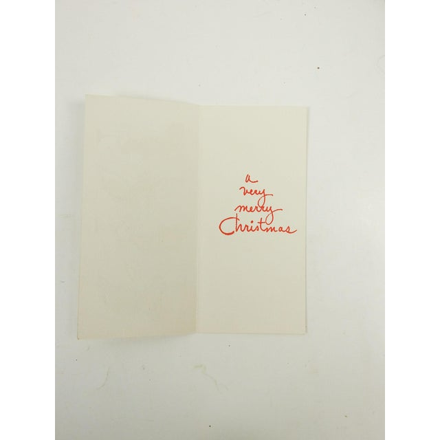 Mid-Century Modern Christmas Cards - S/8 For Sale - Image 5 of 7