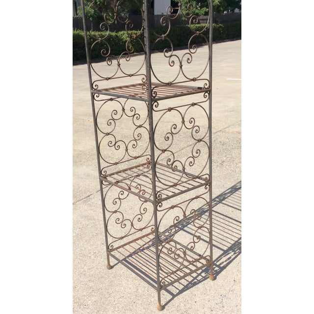Scrolling Iron Etagere For Sale - Image 11 of 11