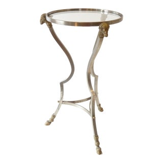20th Century French Style Brass Drinks Table For Sale