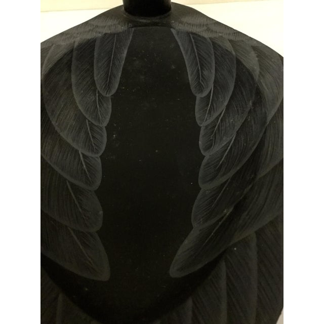 Vintage Artisan Black Wood Swan For Sale - Image 9 of 11