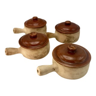 Red Wing Provincial Ware Terra Cotta Bean Pots - Set of 4