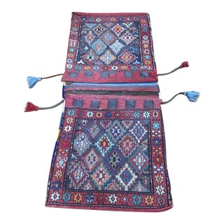 1970s Vintage Turkish Saddlebag Rug - 1′10″ × 4′4″ For Sale