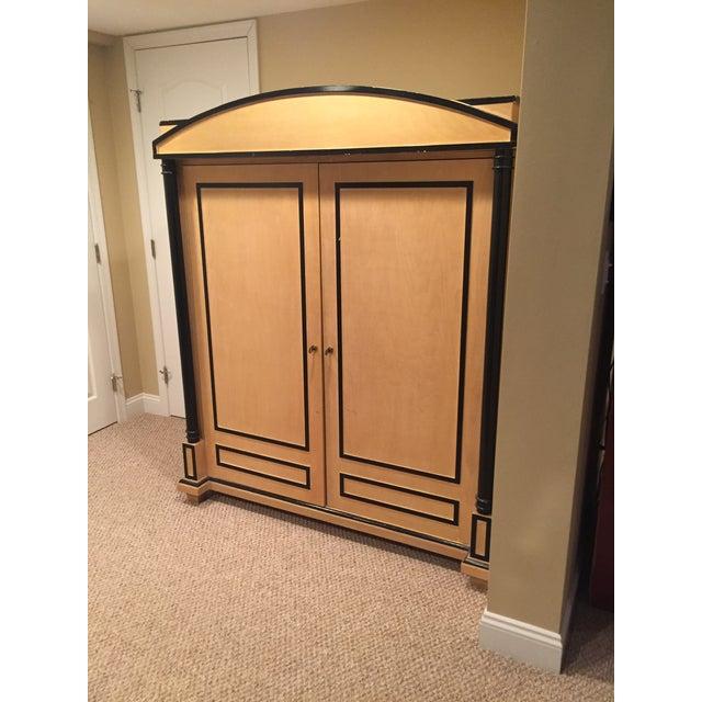art deco oak armoire chairish. Black Bedroom Furniture Sets. Home Design Ideas