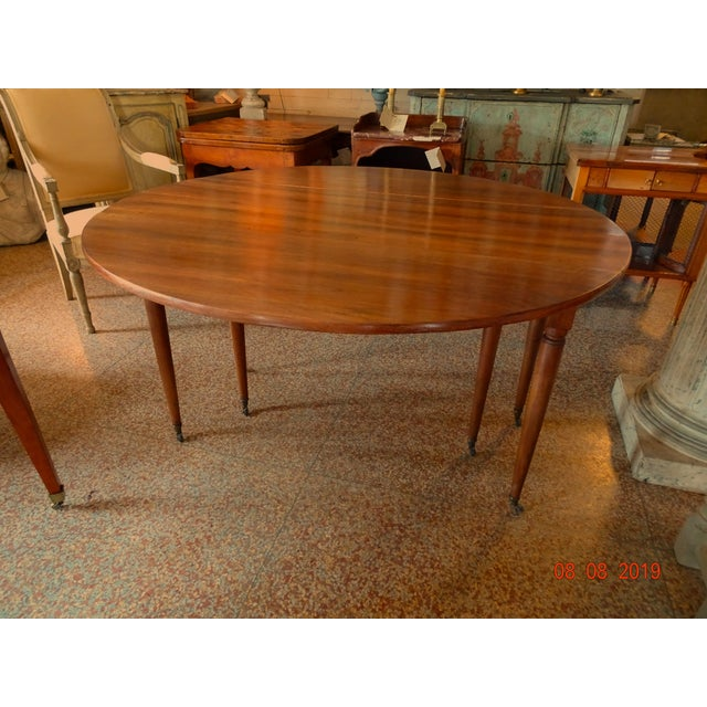 Walnut Epoch Directoire Dining Table For Sale - Image 12 of 12