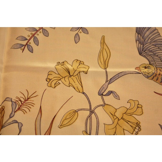 100% Hand-Rolled Silk Scarf for Pillow or Framing - Image 11 of 11