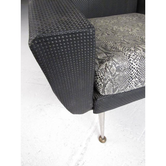 Black Italian Modern High Back Lounge Chairs After Gio Ponti For Sale - Image 8 of 11
