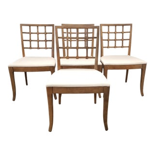 Mid-Century Drexel Enterprises Lattice Back Dining Chairs - Set of 4 For Sale