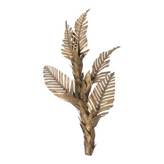 Brass Maison Jansen Palm Tree Wall Sconce - 1970s For Sale