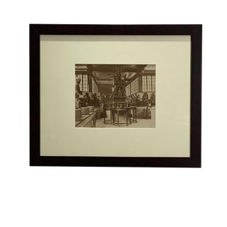 Antique Photograph of an Interior of a Temple For Sale
