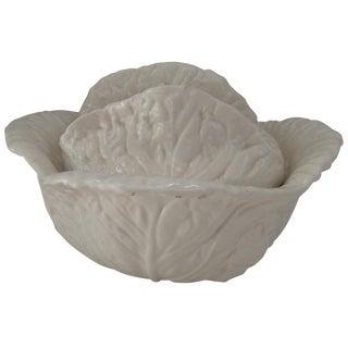 White Lettuce Covered Bowl For Sale