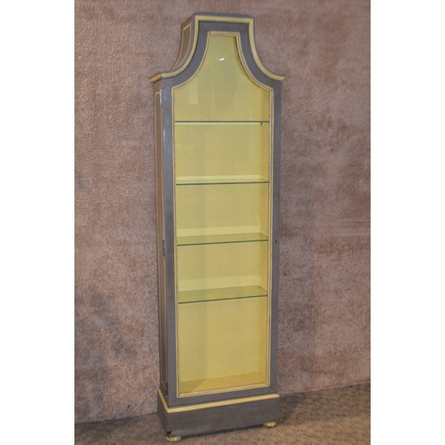Vintage Distressed Painted Venetian Style Curio Cabinet - Image 11 of 11