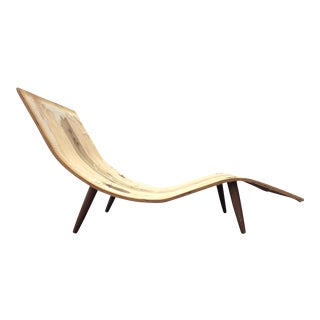 Adrian Pearsall Craft Associates Wave Chaise Lounge