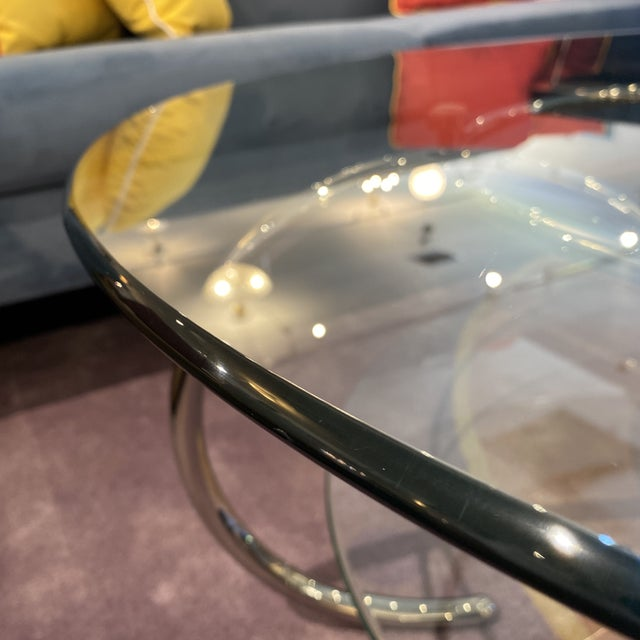 Mid 20th Century Glass & Polished Chrome Coffee Table For Sale - Image 9 of 12