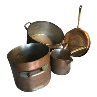 Elkington & Co. Copper Pots & Pan - Set of 4