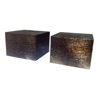Asian Blanket Chests - a Pair