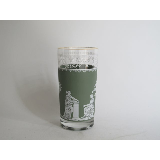 Neoclassical High Ball Glasses & Caddy - Set of 9 - Image 8 of 9