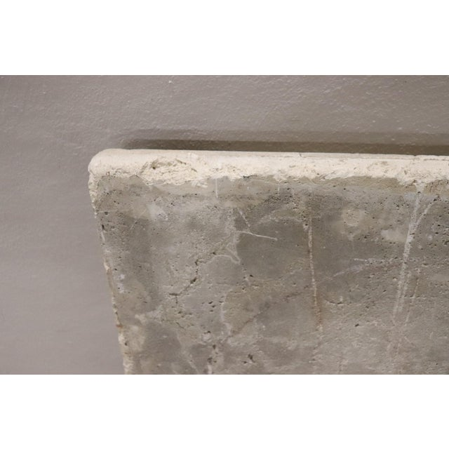 Antique heraldic coat of arms made of pozzolan. Pozzolan is an antique type of cement. The coat of arms is of large...