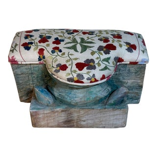 Antique Suzani Foot Stool For Sale