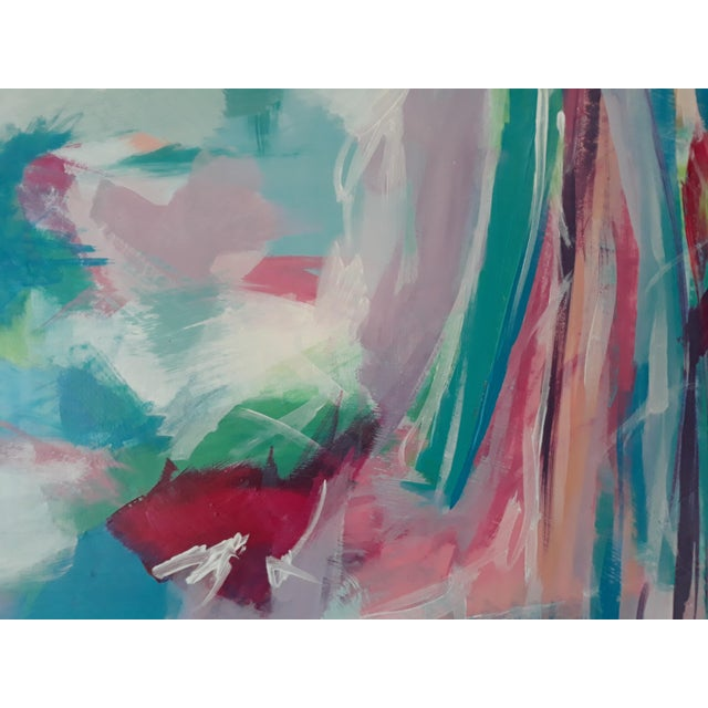 Such a beautiful color collision here. Lots of layering and detail. One of a kind original piece of art on canvas ready to...