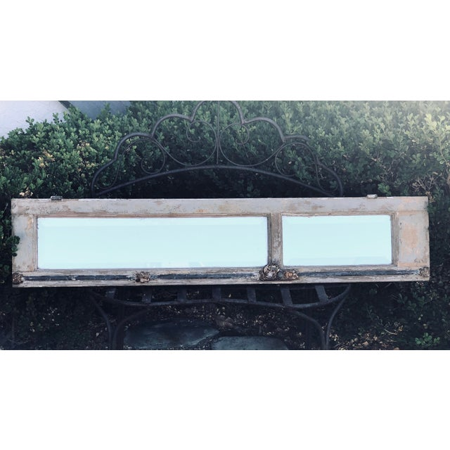 Antique Provence Shutter W/Beveled Mirror For Sale In Los Angeles - Image 6 of 8