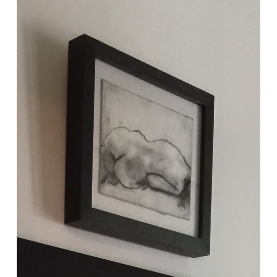 Matt Alston Charcoal Framed Drawing - Nude 16 - Image 3 of 4