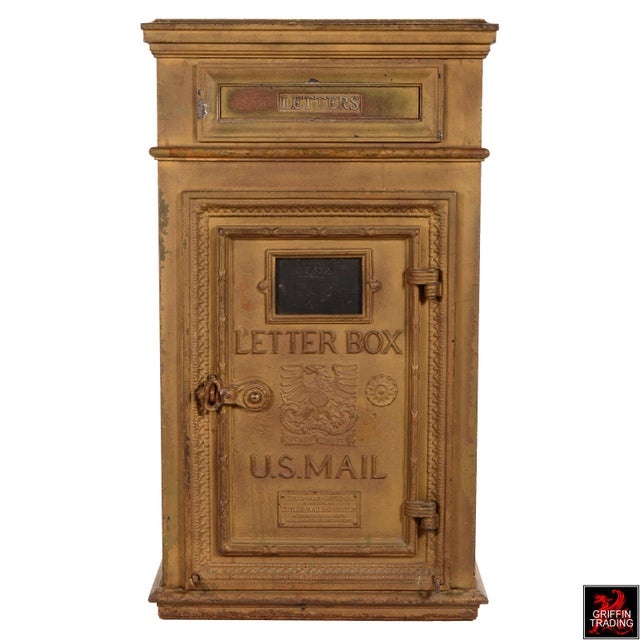 Antique Cutler Mailbox and Mail Chute For Sale - Image 4 of 11