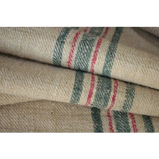 "Rustic Heavy Hemp Grain Sack Fabric By The Yard - 21x36"" For Sale"