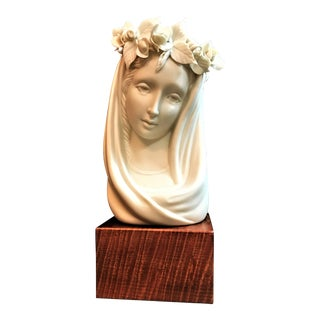 "Porcelain ""Madonna Angelica"" Statue by Cybis For Sale"