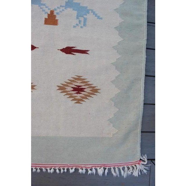 "Vintage Boho Chic Flat Weave Rug - 3'1"" x 5'4"" - Image 5 of 8"