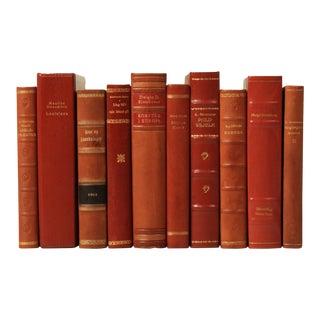 Scandinavian Leather-Bound Books S/10