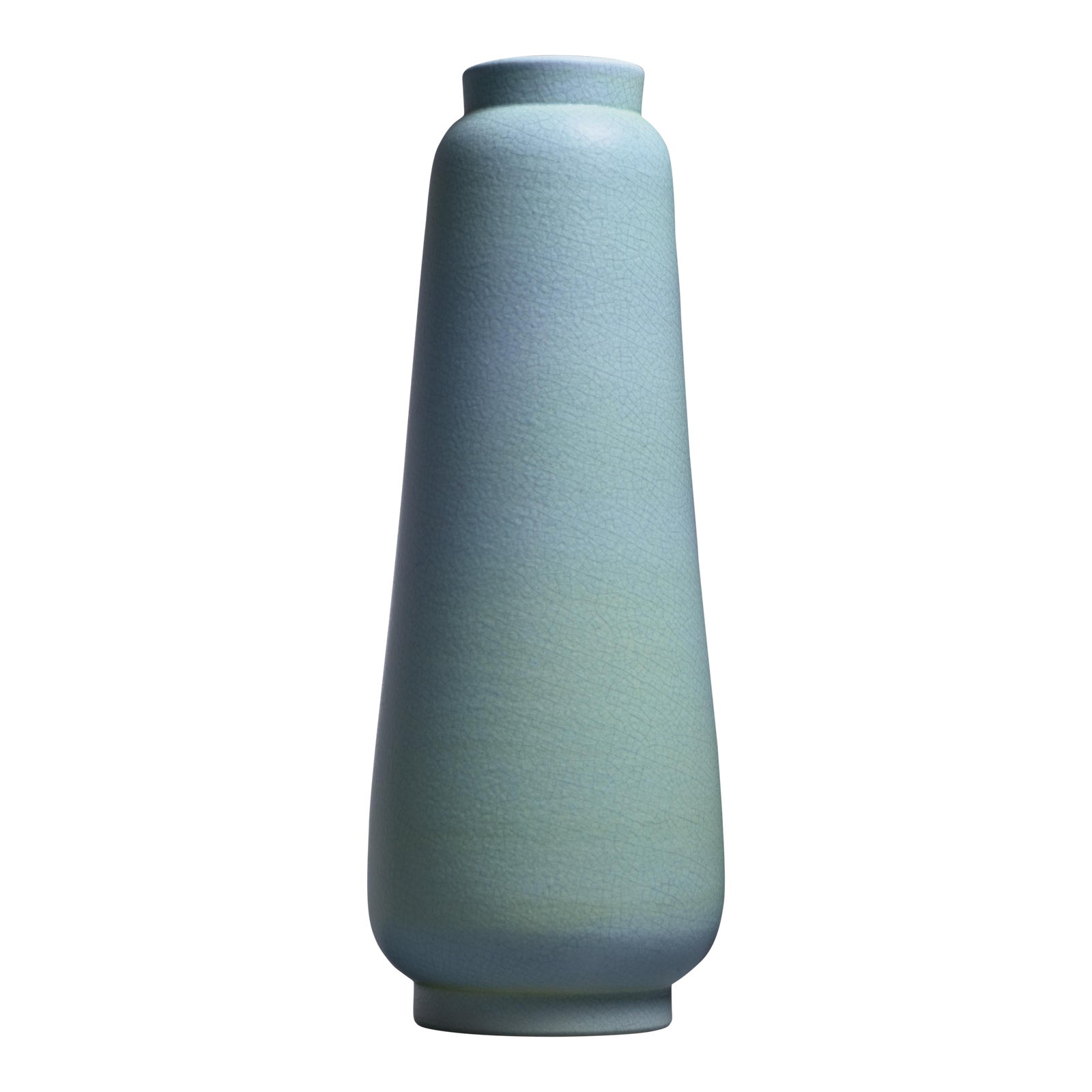 Lovely Ewald Dahlskog Crackle Glaze Floor Vase, Bo Fajans, Sweden,