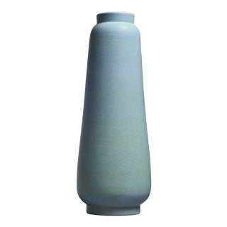 Ewald Dahlskog crackle glaze floor vase, Bo Fajans, Sweden, 1930s For Sale