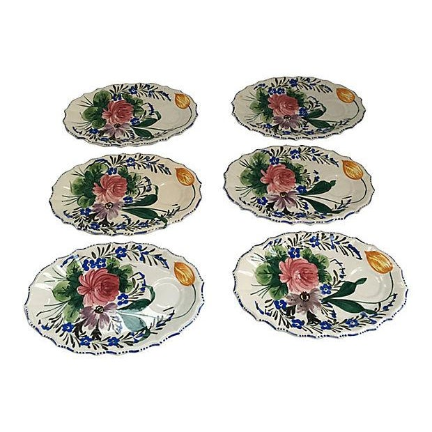 Italian Hand Painted Oval Plates - Set of 6 - Image 4 of 7