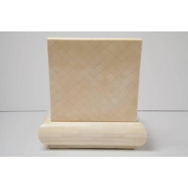 1980s Large Alberto Escobar Tessellated Bone Box, Circa 1980 For Sale - Image 5 of 11