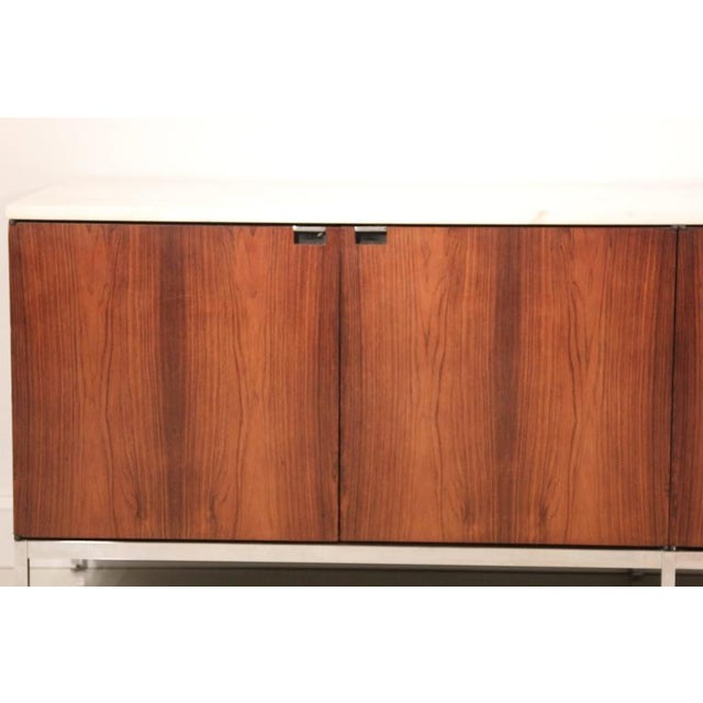 Knoll Rosewood Marble-Top Credenza - Image 2 of 9