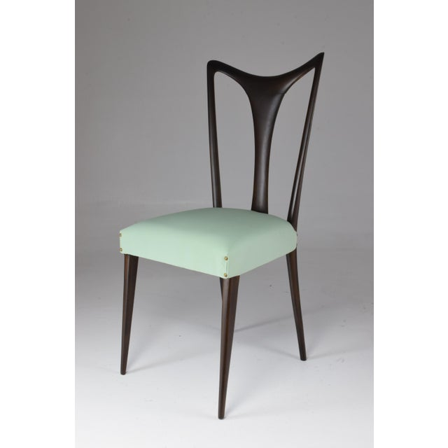 Italian Vintage Dining Chairs Attributed to Guglielmo Ulrich, Set of Six, 1940s For Sale - Image 9 of 13