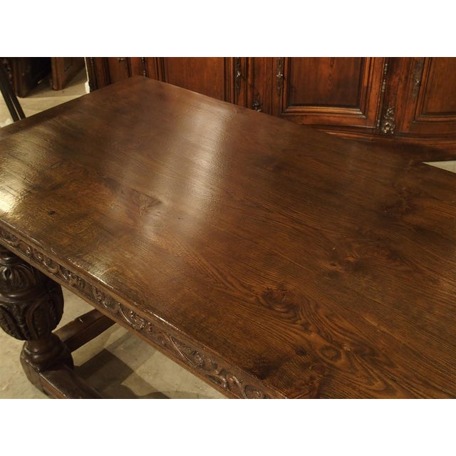 Antique Oak Elizabethan Style Table, England 19th Century For Sale In Dallas - Image 6 of 13