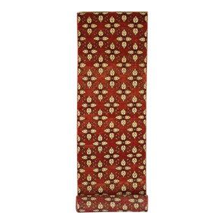 Vintage Turkish Red Oushak Runner, Extra Long Carpet Runner, Stair Tread