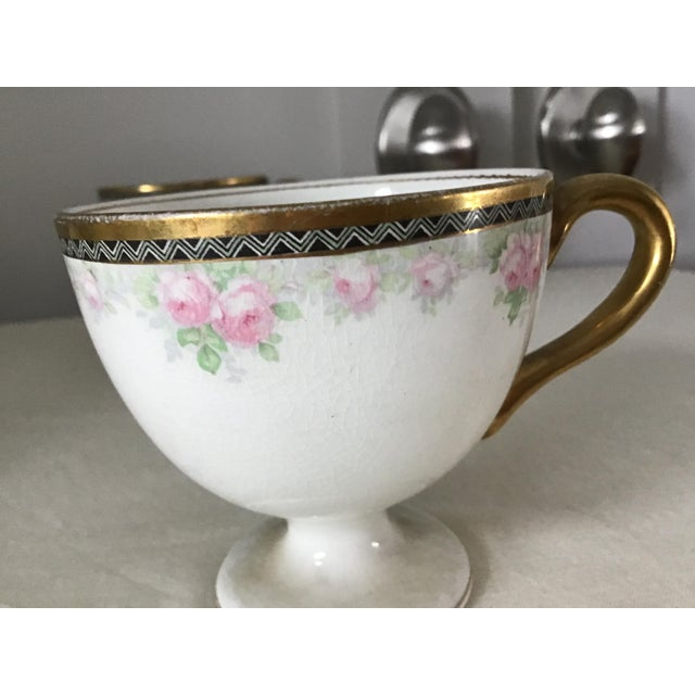 Antique China Egg Cup With Handles - Set of 6 For Sale In Seattle - Image 6 of 10