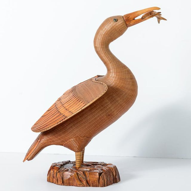 My favorite! Woven Wicker Cormorant from the famous Shanghai collection, China, C.1950. Beautifully crafted, with large...