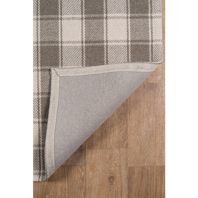 """2010s Erin Gates by Momeni Marlborough Charles Grey Hand Woven Wool Area Rug - 3'6"""" X 5'6"""" For Sale - Image 5 of 8"""