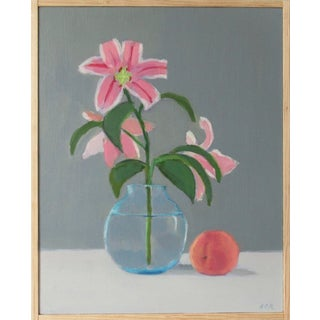 Lilies With a Peach by Anne Carrozza Remick