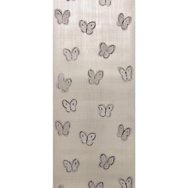 Hunt Slonem for Lee Jofa, Ascension Wallpaper Roll, Platinum, 10 Yards For Sale